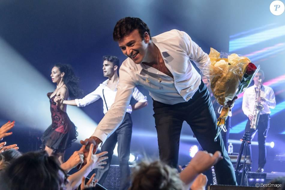 Exclusif - Tony Carreira en concert au Palais des congrès à Paris le 18 octobre 2014