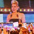 Nadège face à son public lors de la finale de Secret Story 6, vendredi 7 septembre 2012 sur TF1