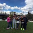 Cristiano Ronaldo et son fils Cristiano Junior en famille pour Pâques, photo Instagram mars 2016.