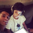 Cristiano Ronaldo et son fils Cristiano Junior, photo Instagram mars 2016.