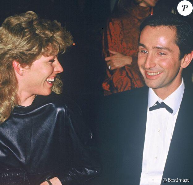Thierry Lhermitte et son épouse Hélène - Soirée à Paris en 1984