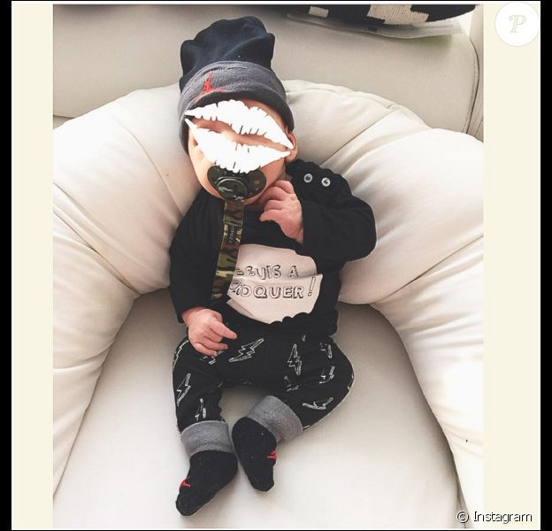 Pharell, le fils d'Aurélie Van Daelen, le 25 mars 2016.