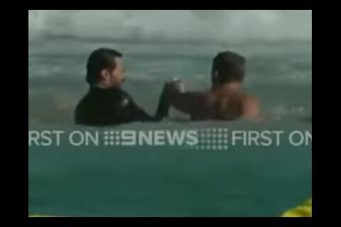 Hugh Jackman sauve son fils Oscar de la noyade