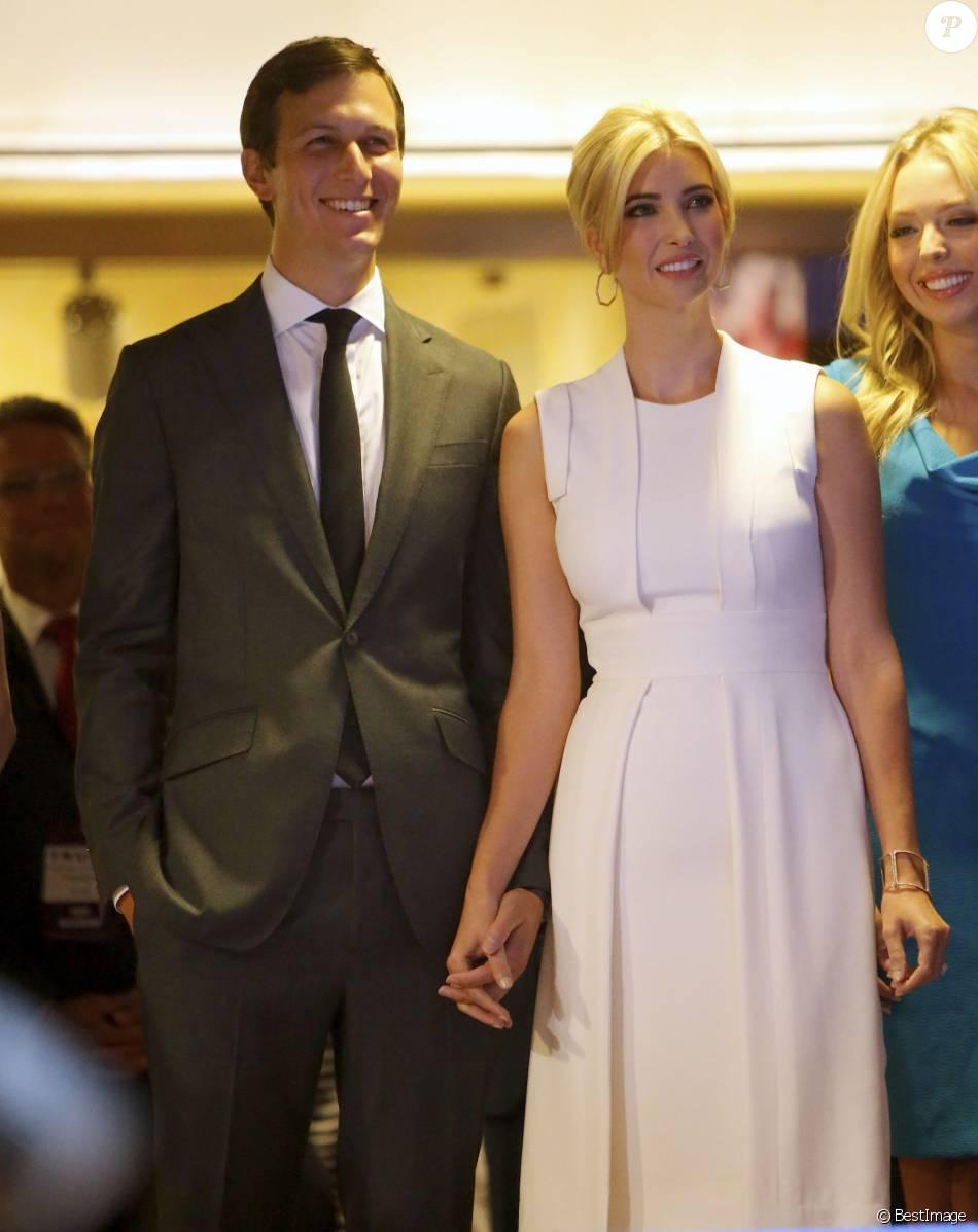 Ivanka Trump et son mari Jared Kushner lors de la déclaration de candidature de Donald Trump à linvestiture républicaine pour la présidentielle de 2016