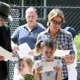 Nicole Kidman et son mari Keith Urban emmènent leurs filles Faith et Sunday Rose faire une chasse à l'oeuf au centennial park à Sydney, pour Pâques, le 27 mars 2016