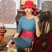 Leila Ben Khalifa : Divine en costume d'époque, la bombe en tournage !