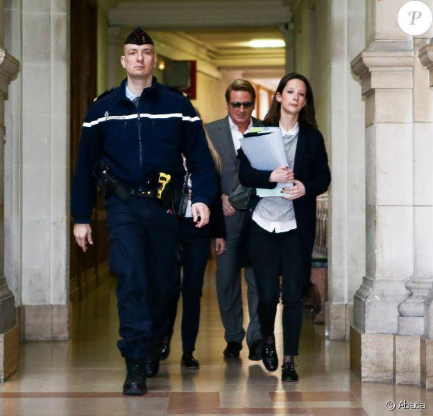 Benoît Magimel lors de son arrivée au tribunal correctionnel de Paris le 12 avril 2016