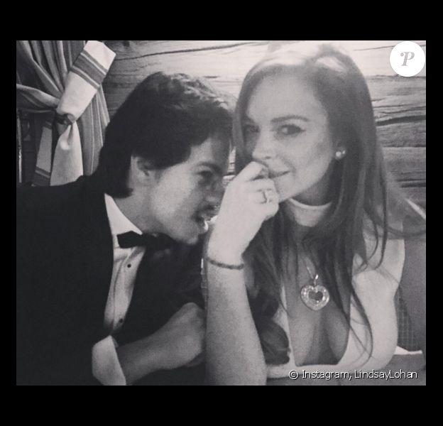 Lindsay Lohan officialise avec son chéri Egor Tarabasov  Photo publiée sur Instagram, à la fin du mois de février 2016.