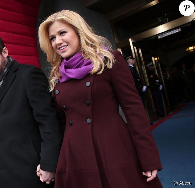 Kelly Clarkson et son mari Brandon Blackstock à Washington, le 21 janvier 2013