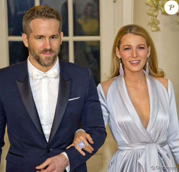 Ryan Reynolds et sa femme Blake Lively - Arrivées au dîner d'état en l'honneur du premier ministre canadien et sa femme à la Maison Blanche à Washington. Le 10 mars 2016 10/03/2016 - Washington