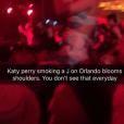 Katy Perry sur les épaules d'Orlando Bloom lors du festival de Coachella. Photo publiée sur Twitter, le 17 avril 2016.