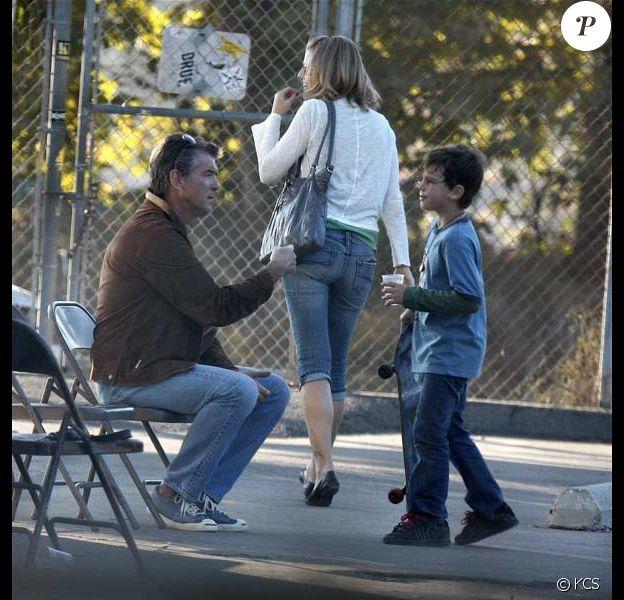 Pierce Brosnan et son fils Paris Beckett