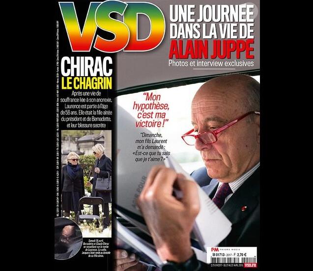 Alain Juppé en couverture du magazine VSD, en kiosque le jeudi 21 avril 2016
