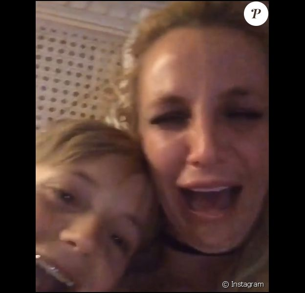Britney Spears en larmes sur Instagram.