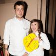 Quentin Bourdy et Noëmie Honiat - Soirée de lancement du guide Gault et Millau 2015 au Trianon à Paris le 27 octobre 2014.