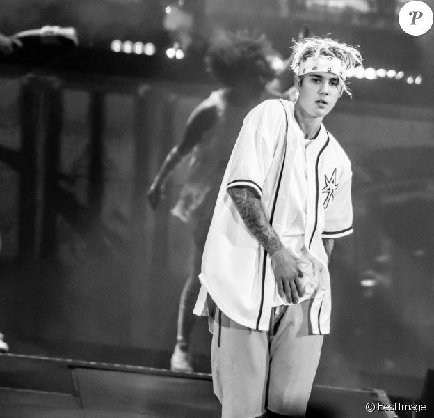 """Justin Bieber en concert à Auburn Hills dans le cadre de sa tournée """"The Purpose World Tour"""", le 26 avril 2016. © Marc Nader/Zuma Press/Bestimage"""
