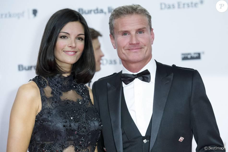 David Coulthard et sa femme Karen Minier à la cérémonie ...