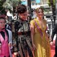 """Veronica Ezell, Sasha Lane, Riley Keough - Montée des marches du film """"American Honey"""" lors du 69ème Festival International du Film de Cannes. Le 15 mai 2016. © Borde-Jacovides-Moreau/Bestimage"""