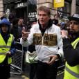David Hasselhoff à l'arrivée du rallye Gumball 3000 à Londres le 2 mai 2016