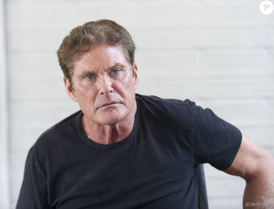 David Hasselhoff en press junket à West Hollywood Los Angeles, le 18 Mars 2016