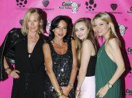 Estelle Lefébure et sa fille Emma magnifiques lors d'une belle nuit à Cannes
