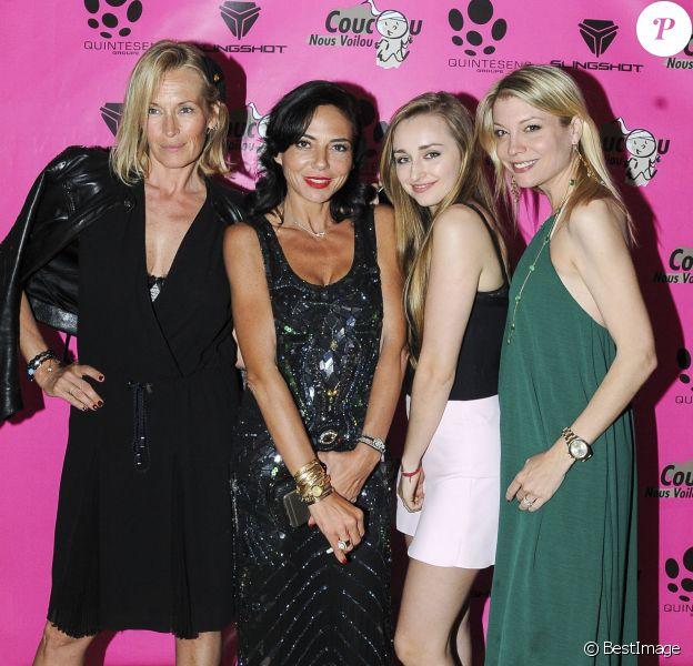 """Exclusif - Estelle Lefébure , Emma Smet et Sandra Zeitoun - Soirée de l'Association """"Coucou Nous Voilou !"""" à la suite Sandra & Co pendant le 69ème festival de Cannes le 21 mai 2016."""