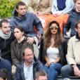 Exclusif - Nicole Scherzinger, présente dans les tribunes de Roland-Garros le 23 mai 2016, a vu son compagnon Grigor Dimitrov s'incliner en cinq sets au premier tour contre Viktor Troicki © Dominique Jacovides / Bestimage
