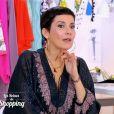 """Audrey, candidate des """"Reines du shopping"""" sur M6, abandonne en pleine émission. La styliste Cristina Cordula choquée. Le 23 mai 2016."""