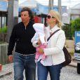 Valeria Mazza et Alejandro Gravier et leur petite fille Taina