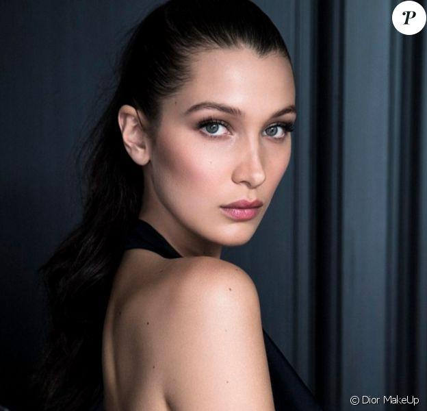 Bella Hadid est la nouvelle ambassadrice de la marque Dior MakeUp. Mai 2016