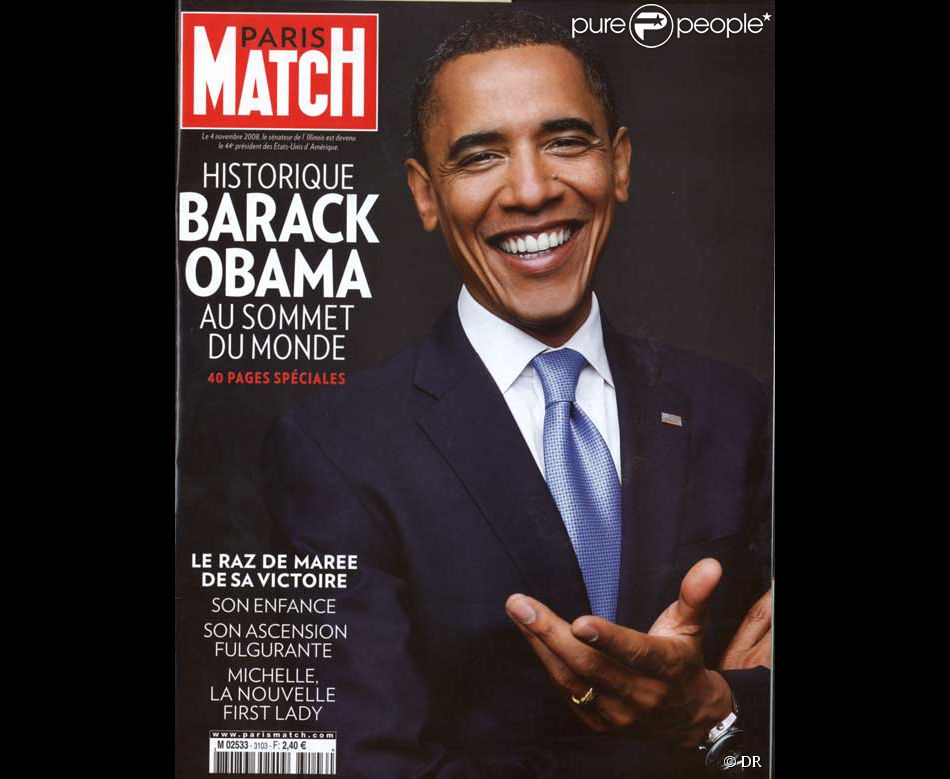 barack obama en couverture de paris match. Black Bedroom Furniture Sets. Home Design Ideas