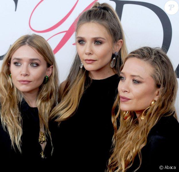 Ashley, Elizabeth et Mary-Kate Olsen aux CFDA Fashion Awards le 6 juin 2016 à New York