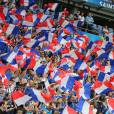 Supporters français au match d'ouverture de l'Euro 2016, France-Roumanie au Stade de France, le 10 juin 2016. © Cyril Moreau/Bestimage