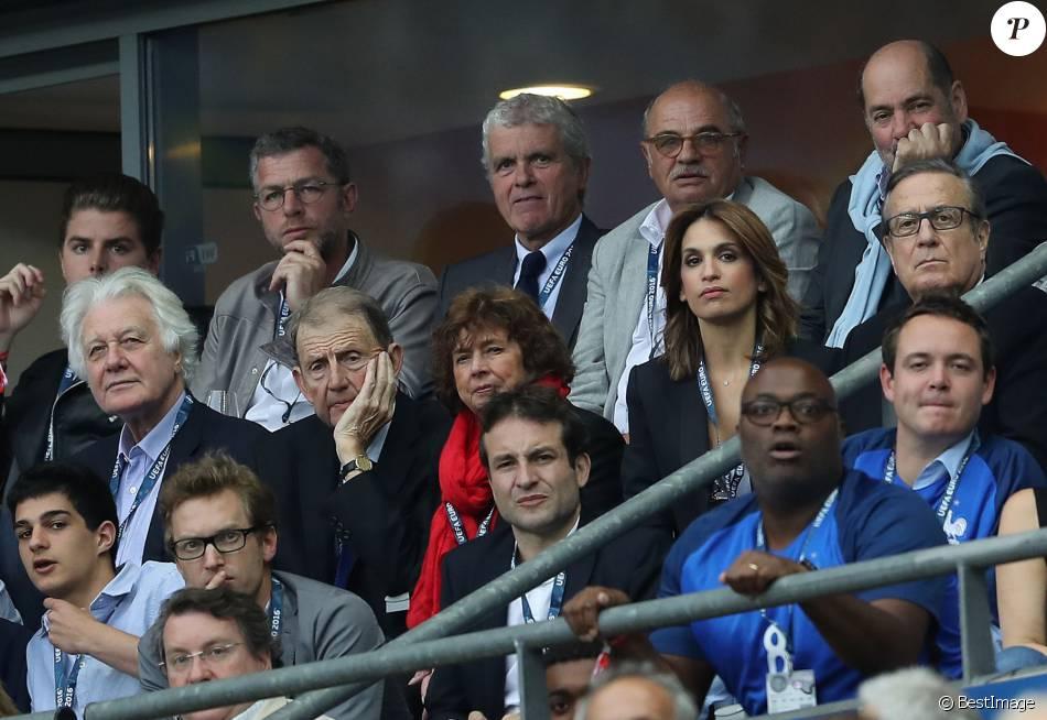 Claude s rillon etienne mougeotte charles villeneuve et sonia mabrouk au match d 39 ouverture de - Sonia mabrouk en couple ...