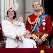 Kate Middleton, George et Charlotte stars de la parade des 90 ans d'Elizabeth II