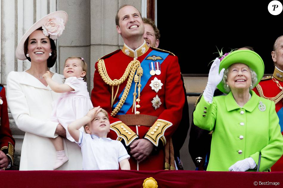 Kate Middleton, duchesse de Cambridge, la princesse Charlotte, le prince  George, le