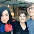Christina Grimmie était très active sur les réseaux sociaux et posté de nombreuses photos, ici avec sa maman et son frère en mai 2016.