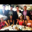 Zachery Ty Bryan et sa femme Carly (deuxième couple en partant de la gauche, photo de 2012 issue du compte Twitter de Zachery) ont accueilli une troisième fille, Jordana Nicole, le 7 juin 2016. Ils sont également parents de jumelles nées en juin 2014.