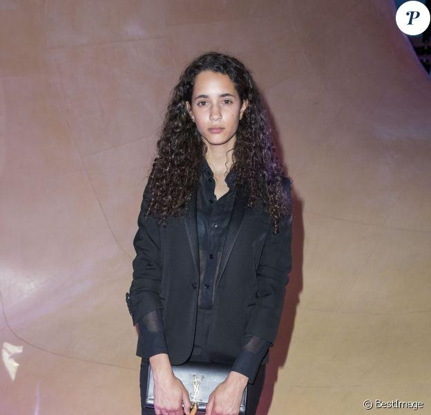 """Iman Perez - Lancement du nouveau parfum féminin Yves Saint Laurent """"Mon Paris"""" au restaurant """"Le Georges"""" à Paris le 14 juin 2016. © Olivier Borde / Bestimage"""