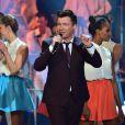 """Rick Astley - Enregistrement de l'émission """"Les Années Bonheur"""" le 3 mars 2015."""