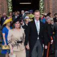 Duchesse María Teresa & le grand-duc Henri de Luxembourg - Mariage de la princesse Alix de Ligne et Guillaume de Dampierre, en l'église Saint-Pierre à Beloeil, en Belgique. Le 18 juin 2016
