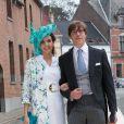 Prince Louis de Luxembourg & princesse Tessy - Mariage de la princesse Alix de Ligne et Guillaume de Dampierre, en l'église Saint-Pierre à Beloeil, en Belgique. Le 18 juin 2016