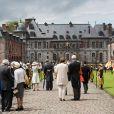 Château de Beloeil - Mariage de la princesse Alix de Ligne et Guillaume de Dampierre, en l'église Saint-Pierre à Beloeil, en Belgique. Le 18 juin 2016