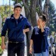 Exclusif - Ashton Kutcher et sa femme Mila Kunis sont allés déjeuner à Beverly Hills, le 21 mai 2016