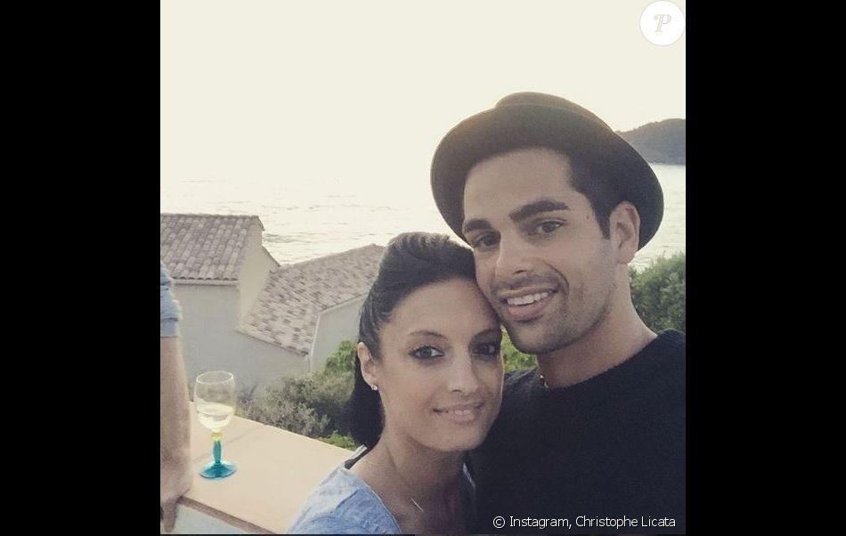 christiphe licata et sa femme lors du mariage dalize et grgoire lyonnet le 18 juin 2016 en corse - Mariage Alizee