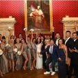 Alizée et Grégoire Lyonnet accompagnés de leurs invités à leur mariage, le 18 juin 2016, en Corse