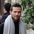 """Yohan Cabaye - Les joueurs du Psg vont déjeuner au restaurant """"La société"""" à l'invitation du président Nasser Al-Khelaifi à Paris le 27 novembre 2014."""