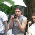 Brooklyn Beckham et Chloë Grace Moretz lors d'un shooting à New York le 29 juin 2016.