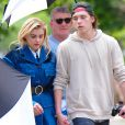 Chloe Grace Moretz looks stunning in Fall clothes for a photoshoot in the Big Apple. The actress and boyfriend Brooklyn Beckham are spotted hand in hand while walking to their next location. He brought along his handy camera for a few photos of his stunning girlfriend while accompanying her on set. New York City, NY, USA, June 29, 2016. Photo by GSI/ABACAPRESS.COM30/06/2016 - New York City