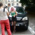 """Exclusif - Emmanuelle Boidron - Tournage du film """"Vive la crise"""" à Paris. Le 7 juin 2016 © Daniel Angeli / Bestimage"""